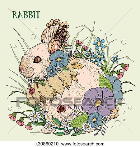 Adorable Rabbit Coloring Page In Exquisite Style