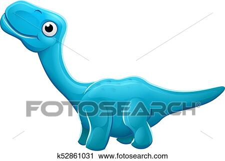 Image of: Baby Dinosaur Cute Cartoon Sauropod Apatosaurus Diplodocus Or Brontosaurus Dinosaur Character Fotosearch Clipart Of Cute Apatosaurus Cartoon Dinosaur K52861031 Search Clip