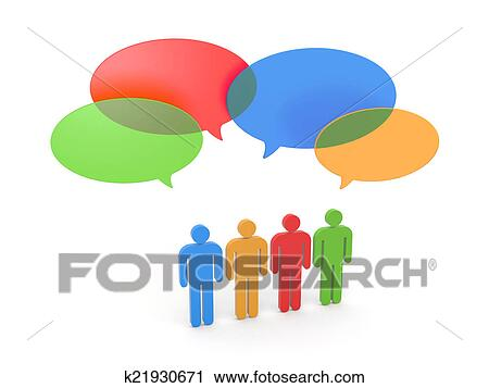 clipart of exchange of opinions gossip k21930671 search clip art rh fotosearch com  gossip girl clipart