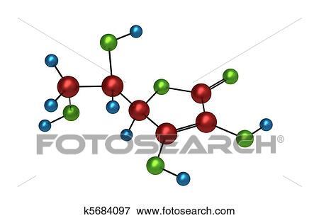 Banque d Illustrations - molécule, de, vitamine c k5684097 ... 43c7a0d3b94