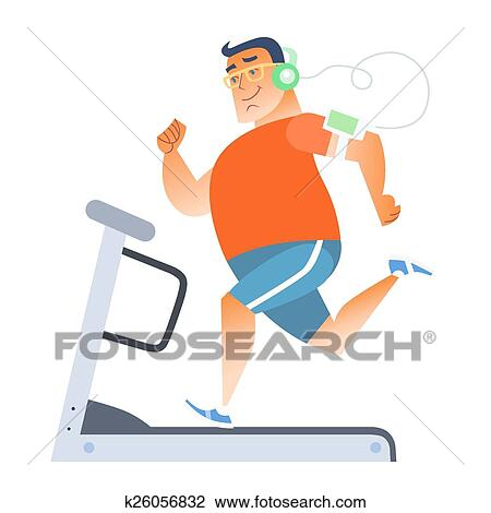 clipart of fat man on a stationary treadmill k26056832 search clip rh fotosearch com fat old man clipart big fat man clipart