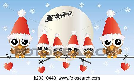 Feliz Natal Feliz Feriados Desenho K23310443 Fotosearch