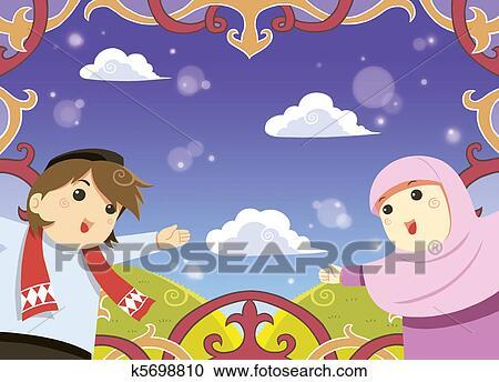 Stock illustrations of muslim greeting card k5698810 search eid mubarak greeting card m4hsunfo