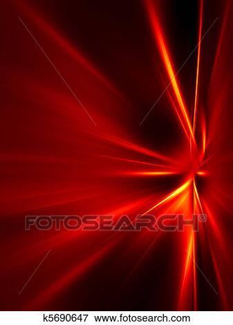 Rosso Giallo Raggi Su Sfondo Nero Archivio Illustrazioni