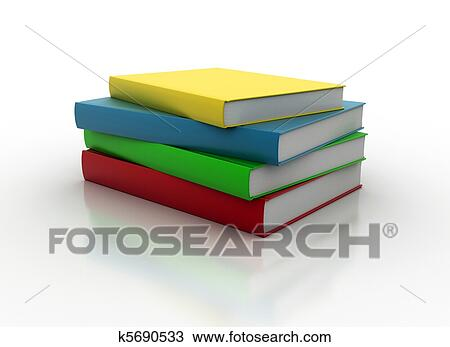 drawing of stacked books k5690533 search clipart illustration
