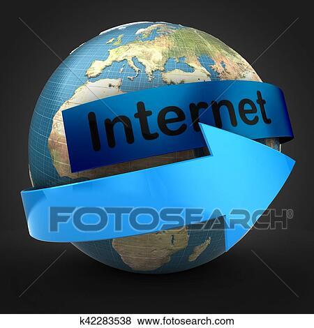 Fondo de internet negro
