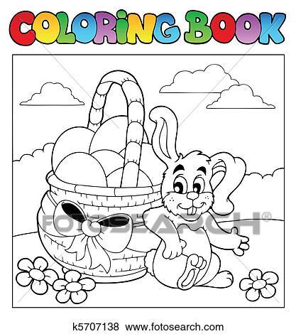 Clip Art - ausmalbilder, mit, osterbilder, thema, 2 k5707138 - Suche ...