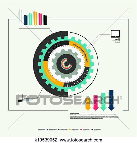 Clipart of circle cog wheel diagram template k19539052 search clip clipart circle cog wheel diagram template fotosearch search clip art illustration murals ccuart