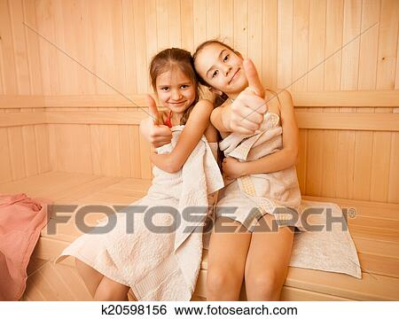 girls sauna