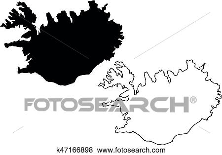 Clip Art of Iceland map vector k47166898 - Search Clipart ...