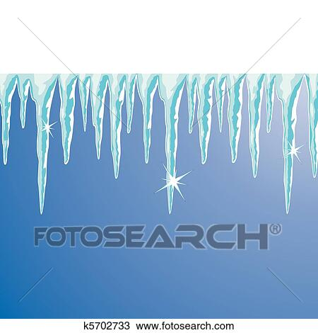 Clipart of shiny icicles k5702733 - Search Clip Art, Illustration ...