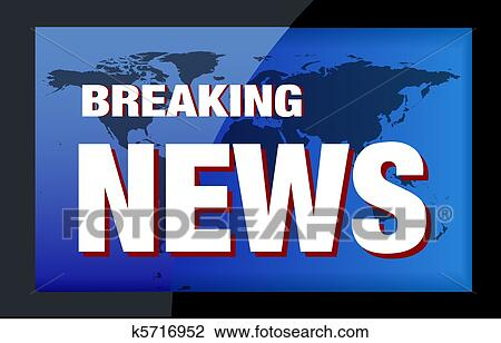 Stock Photo Of BREAKING NEWS TV K5716952