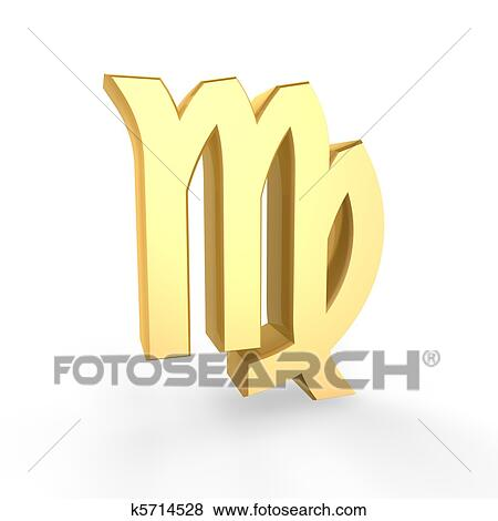 Stock Illustration Of Golden Virgo Symbol Of Zodiac K5714528