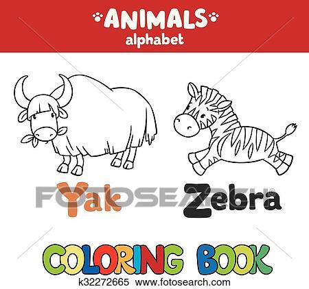 Clipart Tiere Alphabet Oder Abc Ausmalbilder K32272665