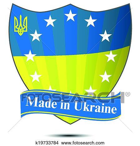 Clipart Of Ukrainian Flag K19733784 Search Clip Art Illustration