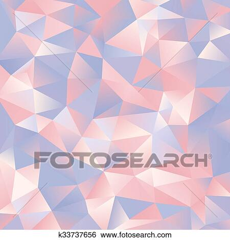 Abstract Light Blue And Pink Paper Triangles Design