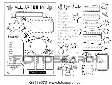 image relating to Printable All About Me called All with regards to me. College or university Printable Clipart