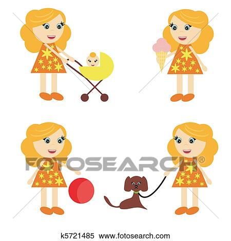 Four Girls Stock Illustrations – 1,631 Four Girls Stock Illustrations,  Vectors & Clipart - Dreamstime