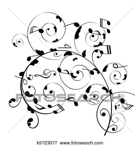 Clip Art Of Musical Notes K5723077
