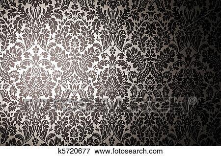 Stock Illustration Schwarz Weiß Muster Wallpaper Photographie