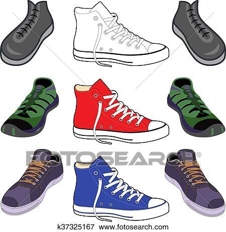 スニーカー, 靴, セット クリップアート