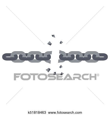 Clipart Of Broken Chain Link K51818463