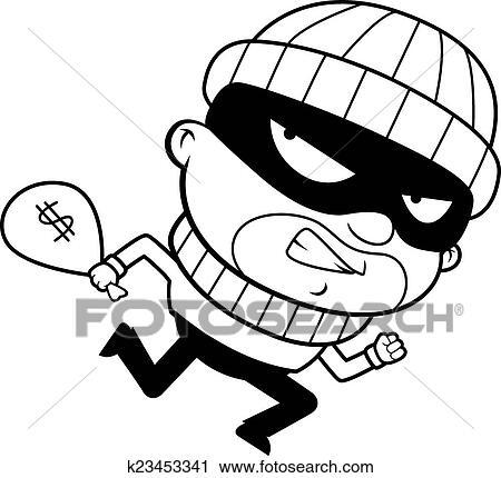 clipart of burglar running k23453341 search clip art illustration rh fotosearch com cartoon burglar clipart animated burglar clipart