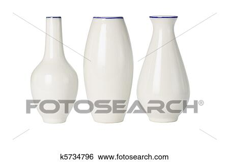 Stock Images Of Chinese Porcelain Vases Of Various Shapes K5734796