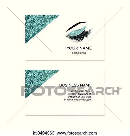 Clipart Of Makeup Artist Business Card K50404363 Search Clip Art