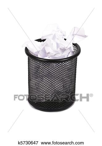 Office Trash Isolated On A White Background.