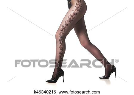 fd41793bff3 Stock Image of Female legs in tights cut out k45340215 - Search ...