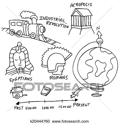 Clipart Of History Symbols K20444760 Search Clip Art Illustration