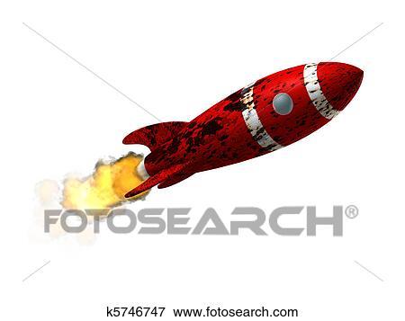 Hazır Ilüstrasyonlar Mahvolmuş Uzay Roketi K5746747 Eps Clipart