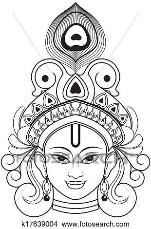 Drawings Of Krishna K17639004 Search Clip Art Illustrations Wall