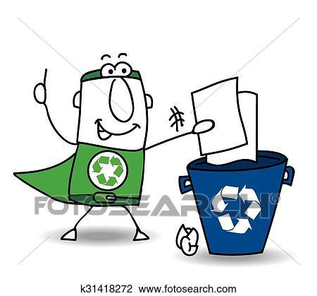 clipart recyclage papier k31418272 recherchez des clip arts des illustrations des dessins. Black Bedroom Furniture Sets. Home Design Ideas