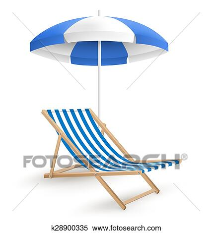 Clipart - sol, guarda-sol, com, cadeira praia, isolado, branco ... 204ee90ba9