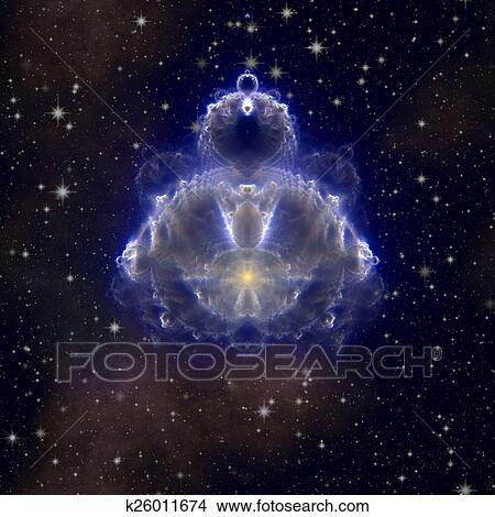 dessins buddhabrot fractal bouddha sur nuit ciel toil k26011674 recherche de clip. Black Bedroom Furniture Sets. Home Design Ideas