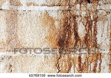 Banque de Photographies - eau, taché, blanc, bloc de mâchefer, mur ...