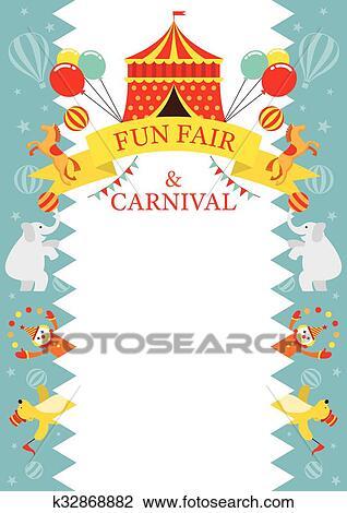Clipart of Fun Fair, Carnival, Circus, Frame k32868882 - Search Clip ...