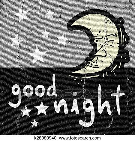 Stock Illustrations Of Good Night K28080940 Search Clipart