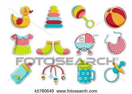 Clip Art Satz Von Baby Symbol K5760649 Suche Clipart Poster