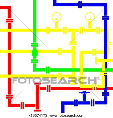 Clipart - Seamless, hintergrund, von, wasser, rohrleitung k16574173 ...