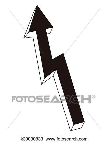 Arrow Pointing Up Icon Clipart K39030833 Fotosearch