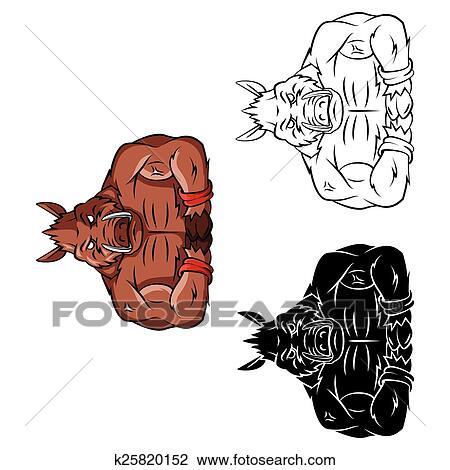 Clipart Ausmalbilder Wildschwein Caracter K25820152 Suche Clip