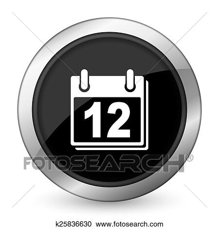 Simbolo De Calendario.Calendario Nero Icona Organizzatore Segno Ordine Del Giorno Simbolo Clipart