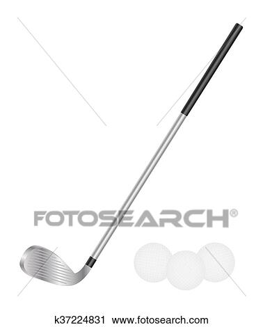 Golf Club And Golf Ball Clipart K37224831 Fotosearch