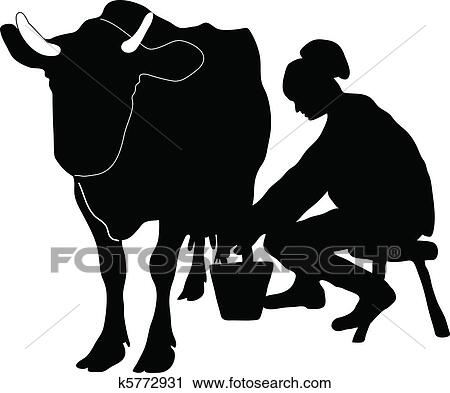 Milking A Cow Clipart All About Clipart