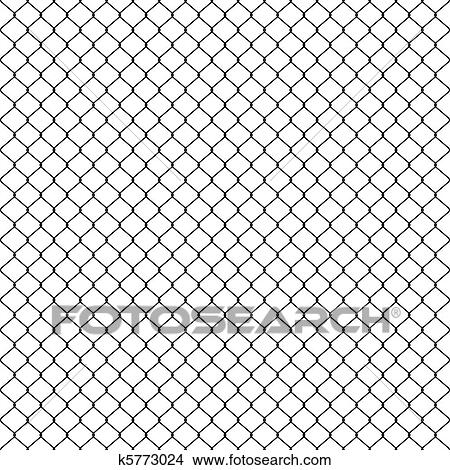 Clipart of Woven wire fence black k5773024 - Search Clip Art ...