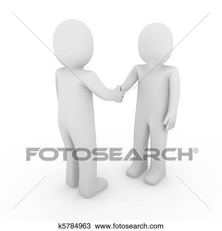 Dessin 3d homme business poign e main k5784963 - Main en dessin ...