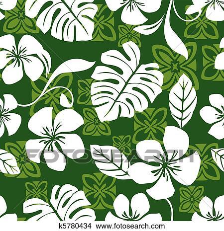 Clipart Of Aloha Friday Hawaiian Shirt Pattern K40 Search Custom Hawaiian Pattern